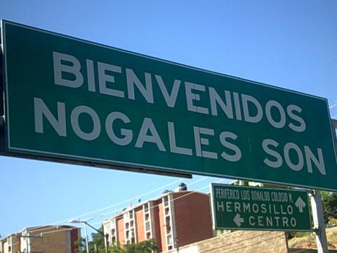 sign: Bienvenidos Nogales