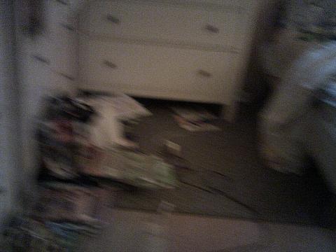 blured photo of bedroom floor