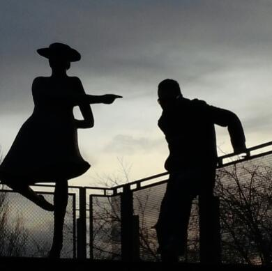 photo of statue at UW