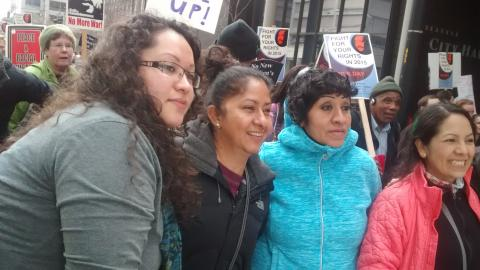 four women at march