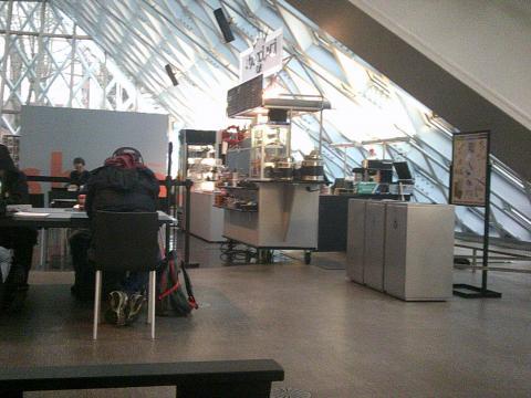 Cafe inside the Seattle Public Libraru