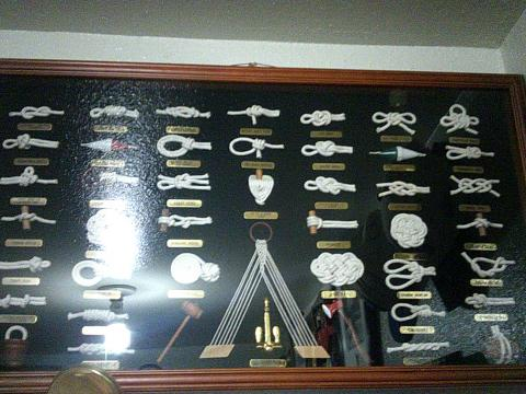 framed poster of knot types
