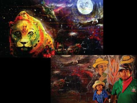 Mural indígena - Buena Vista Cali