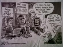 photo of a cartoon