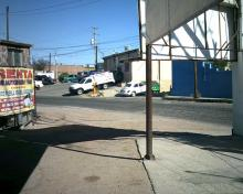 patio and streetcorner