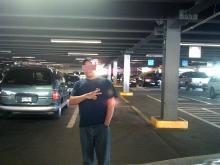 Chino in parking garage