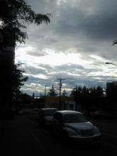 sky over street