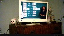 tv screen and piggy bank
