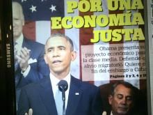 Obama picture in Spanish newspaper