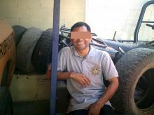 man posing for camera